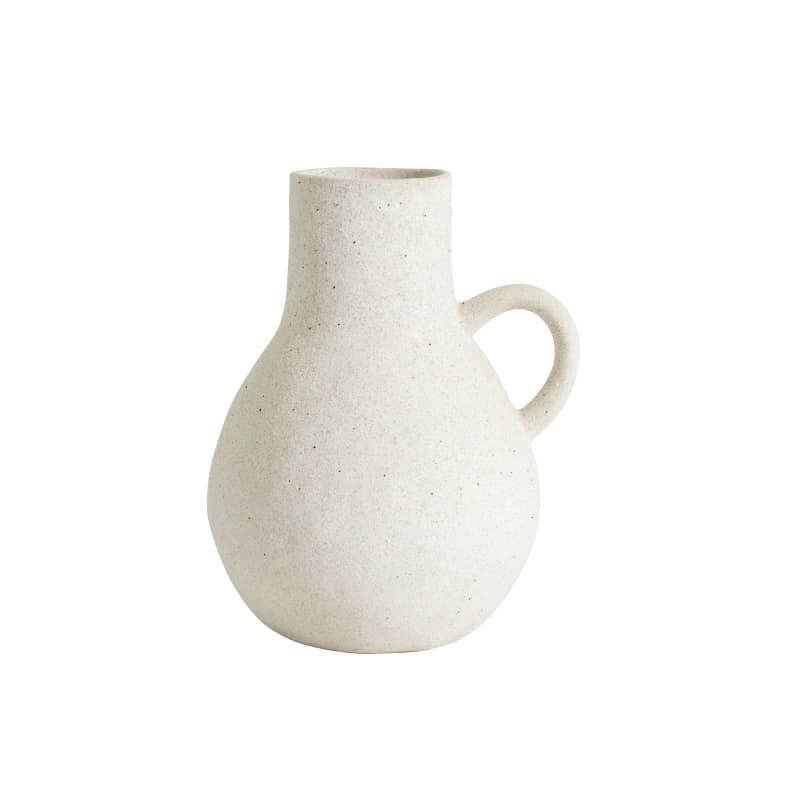 vase blanc en grés Nordal
