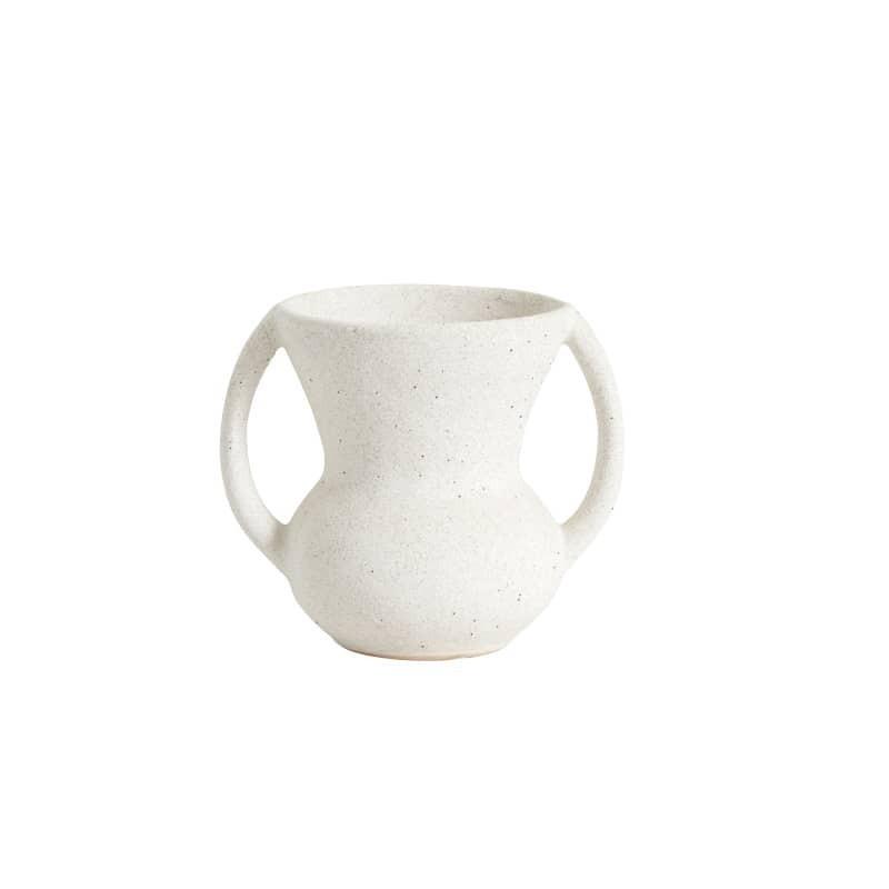 Pot Eldey blanc de Nordal hauteur : 13 cm