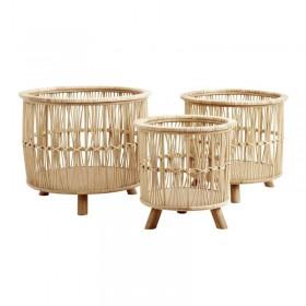 Cache pot en bambou Zoé