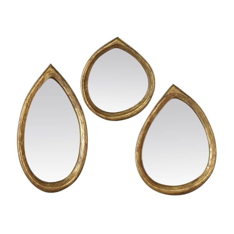 Miroirs dorés ovales