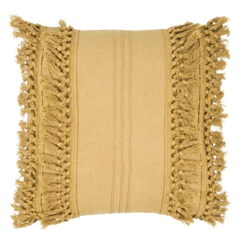 Coussin coton Palmas à franges