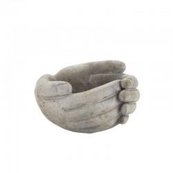 Cache pot en forme de mains