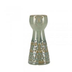 Vase en céramique vert . Hauteur : 21,5 cm