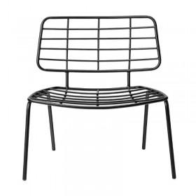 fauteuil lounge métal