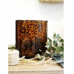 Vase ambré diamètre 16 cm