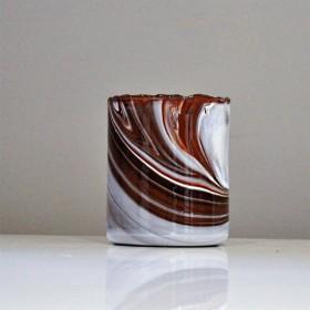 Photophore en verre soufflé hauteur 9 cm