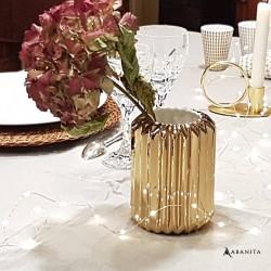 Vase doré design Bloomingville