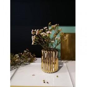 Vase doré hauteur 13.5 cm