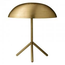Lampe champignon entièrement en métal doré mat