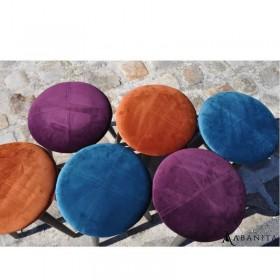 tabourets velours 3 coloris au choix