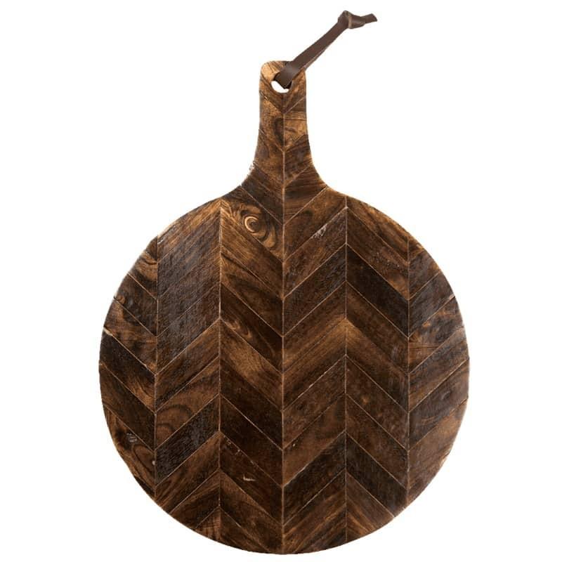 Planche à découper ronde en bois de manguier