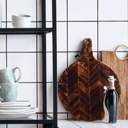Planche à découper en bois de manguier bruni