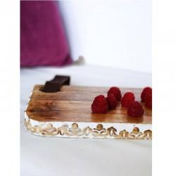 Planche à découper rectangle en bois de manguier