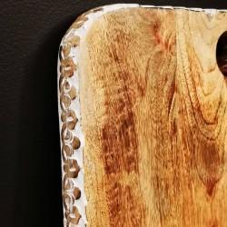 Planche en bois rectangle en bois de manguier