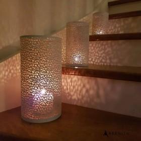 Lanterne ajourée blanche 3 dimensions
