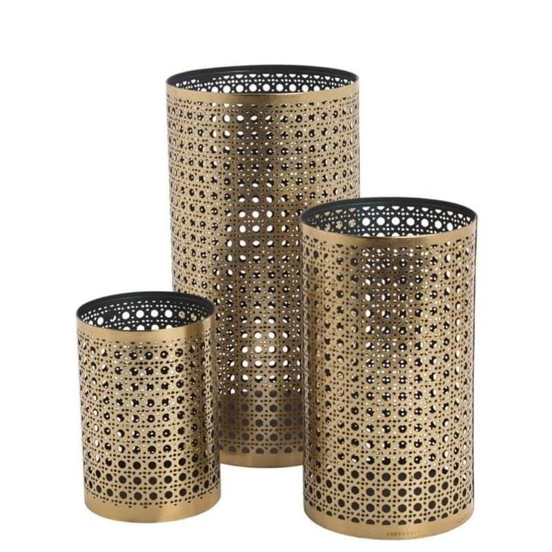 Lanterne métal doré : 3 dimensions disponibles