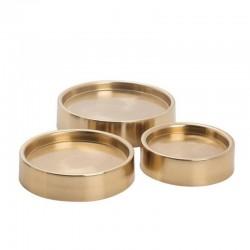 base dorée pour lanterne métal