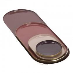 Plateau déco en métal nuance burgundy
