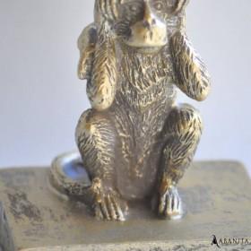statuette les 3 singes en résine dorée
