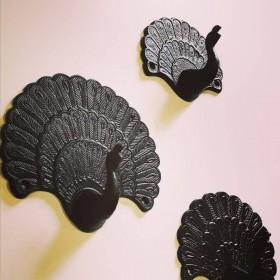 Patères métal noir Vanillafly