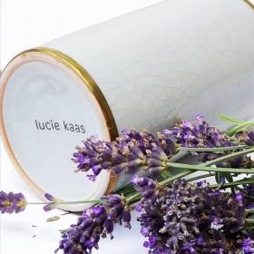 Vase Lucie Kaas céramique craquelée blanc