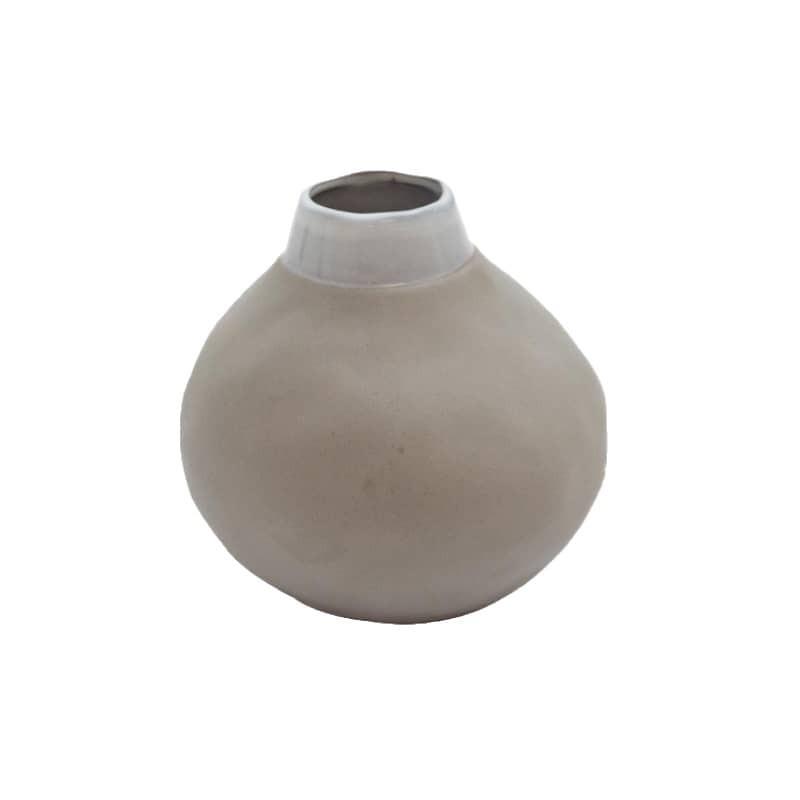 Vase en grès couleur gris clair