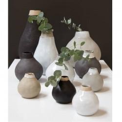Vase Gina soliflore en grès couleur naturel