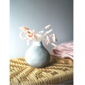 Vase en grès gris hauteur : 17 cm