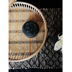 Tables d'appoint rondes en bambou