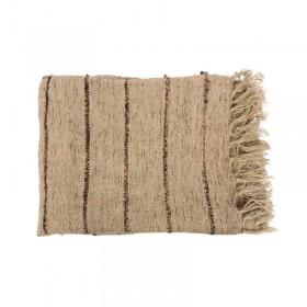 Plaid coton beige/noir boheme