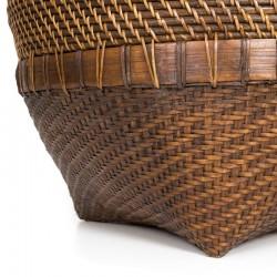 Panier à linge en rotin style colonial