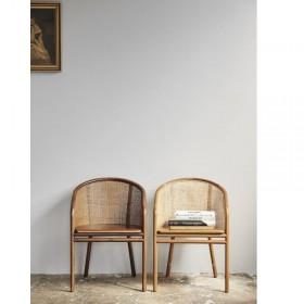 Chaise cannage Mosso teinte brun foncé ou brun clair