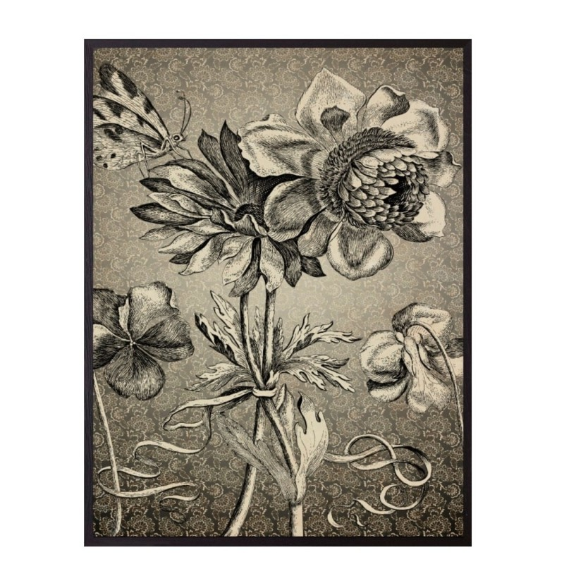 Affiche Antique floral