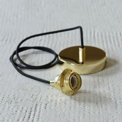 Suspension avec plafonnier métal doré