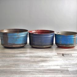 cache pot en métal recyclé Lazare Home