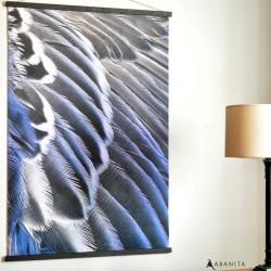 Toile Impression Plumes Nuances Bleu et Gris. Abanita.fr